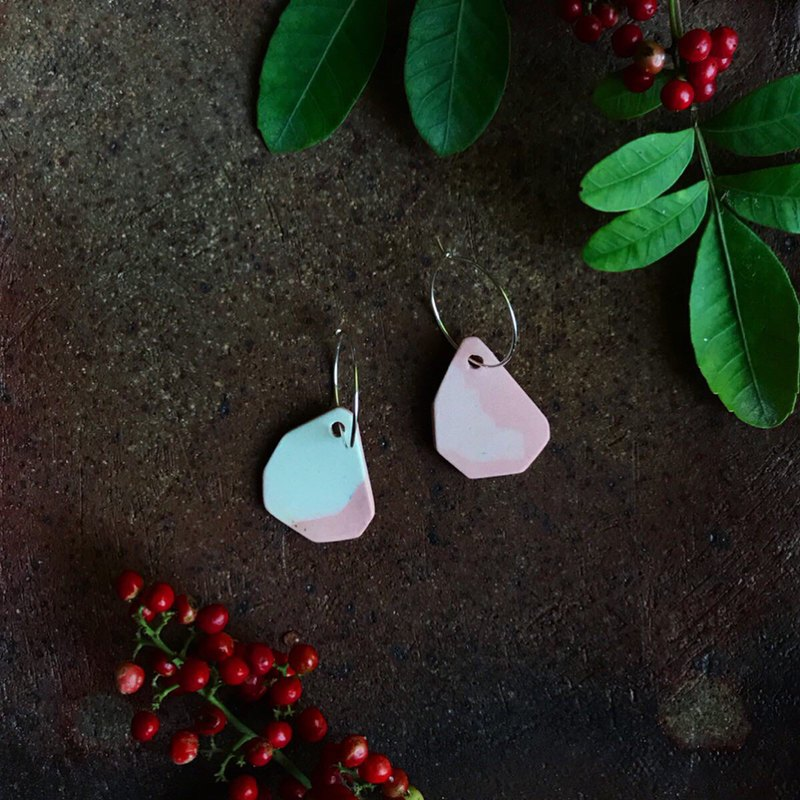Pink Porcelain Earrings