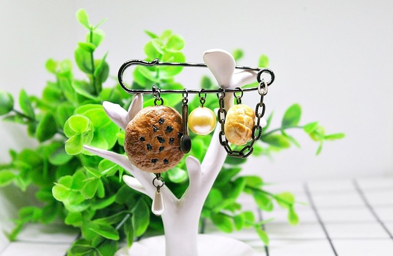 >>Simulation dessert pin-afternoon tea-#clothes accessories# #包包挂件#