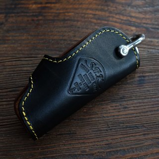 SFK Key Case tea core vegetable tanned cow leather key case