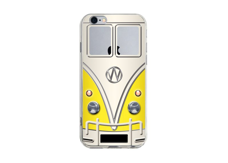 Custom yellow minibuses nostalgia transparent Samsung S5 S6 S7 note4 note5 iPhone 5 5s 6 6s 6 plus 7 7 plus ASUS HTC m9 Sony LG g4 g5 v10 phone shell mobile phone sets phone shell phonecase