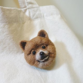 Customized pet wool felt brooch - hair boy head - please provide photos (price fixed)