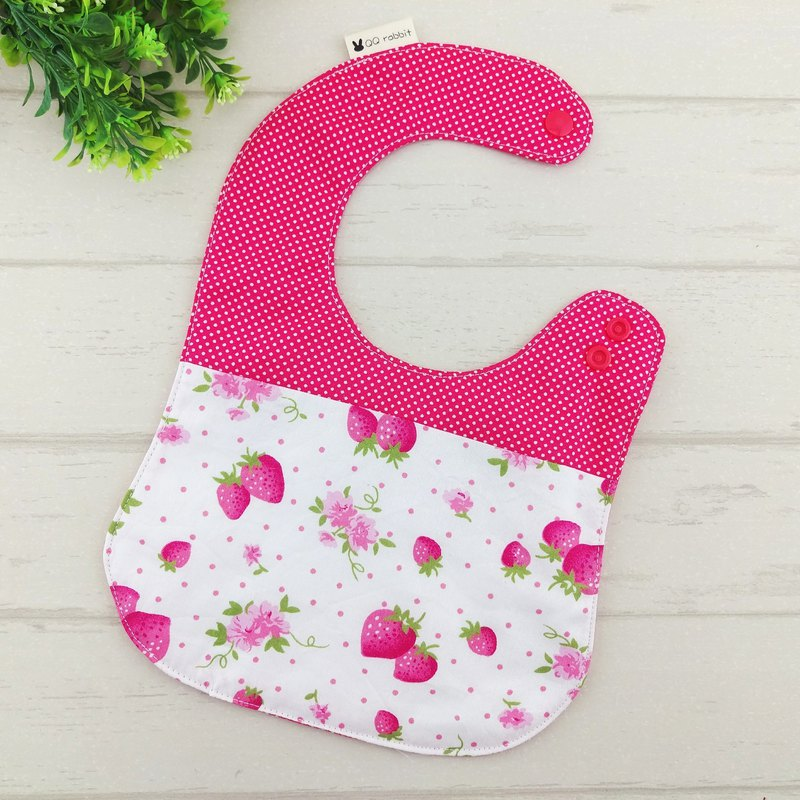Strawberry garden. Double-sided bib (name can be embroidered)