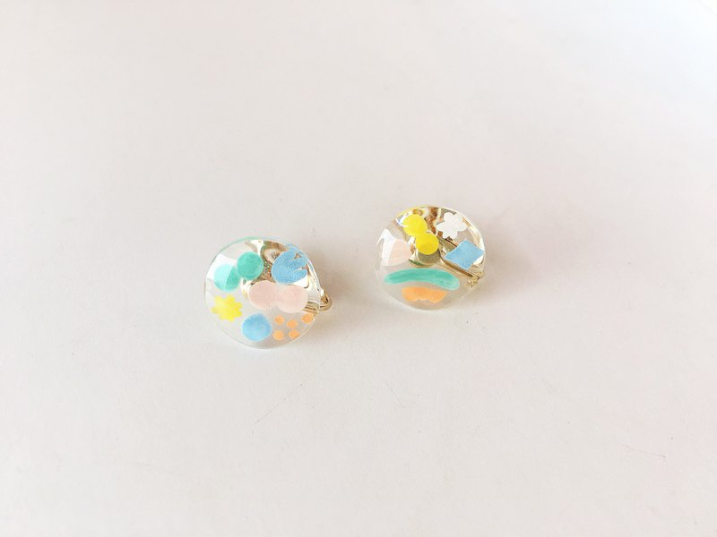 Undersea Garden Series-Shell Whisper Transparent Hand-painted Sticker Ear Earring Ear Pin / Ear Clip