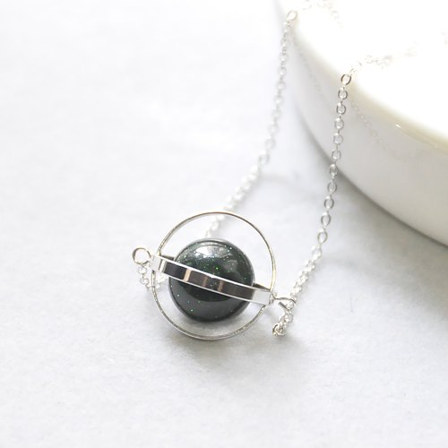 Mysterious planet universe. Silver ring. Green sand. Necklace Mysterious Planet. Galaxy. Sliver Ring. Sandstone. Necklace. birthday present. Girlfriend gift. Sister gift