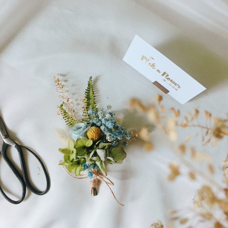 Picking a blessing, grass, dance, boutonniere, corsage, groom, corsage