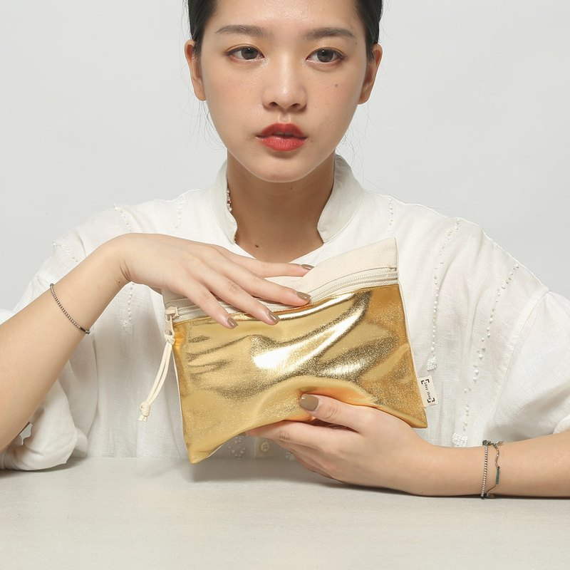 Shining Gold LayBag Sleeping Bag Makeup Small Storage Bag