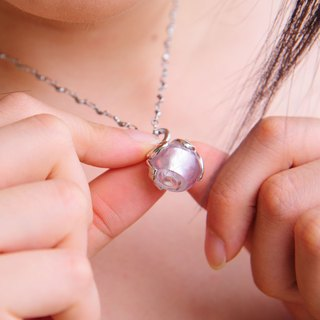 Diffuser Petite Bonbon Necklace Pink Color 316 Stainless Chain with Oil Dropper