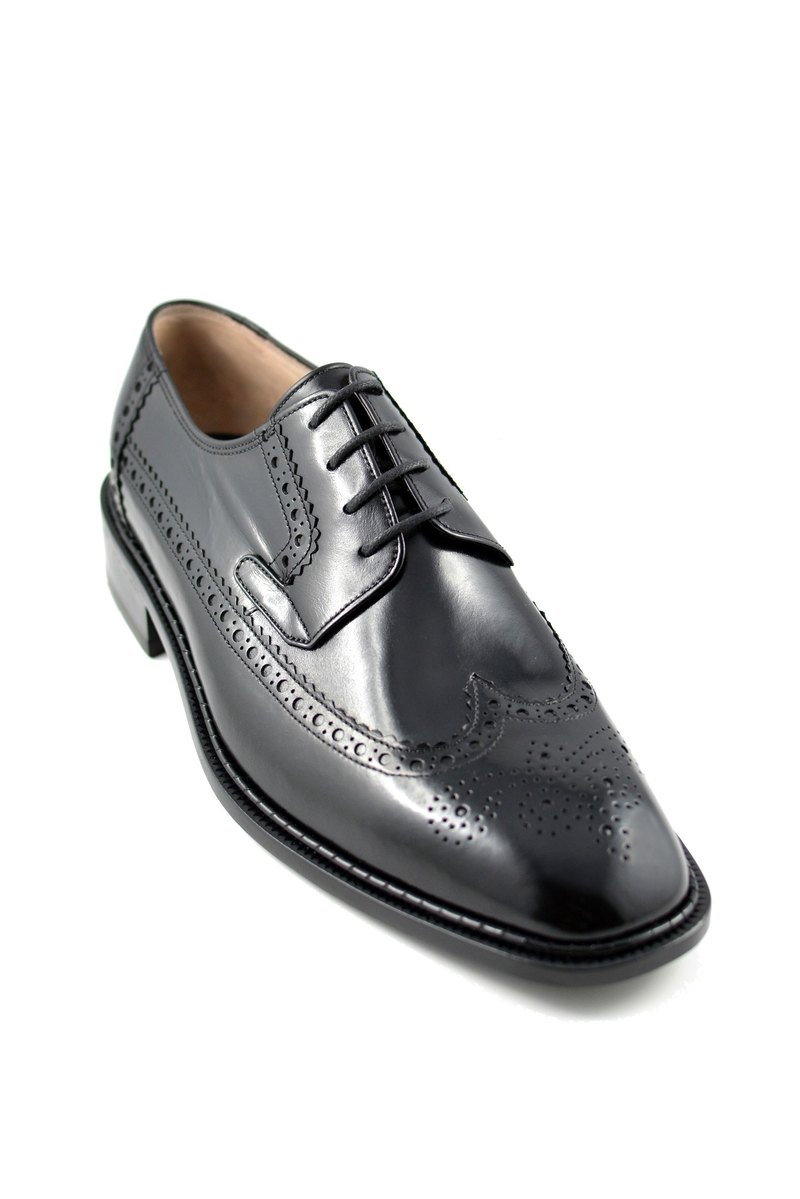 Liu Yidao carved wing pattern serrated Derby shoes carved edge