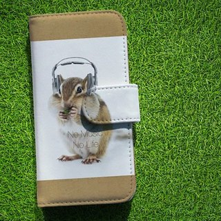 【All models supported】 Free shipping 【notebook type】 squirrel No Music No Life smart case