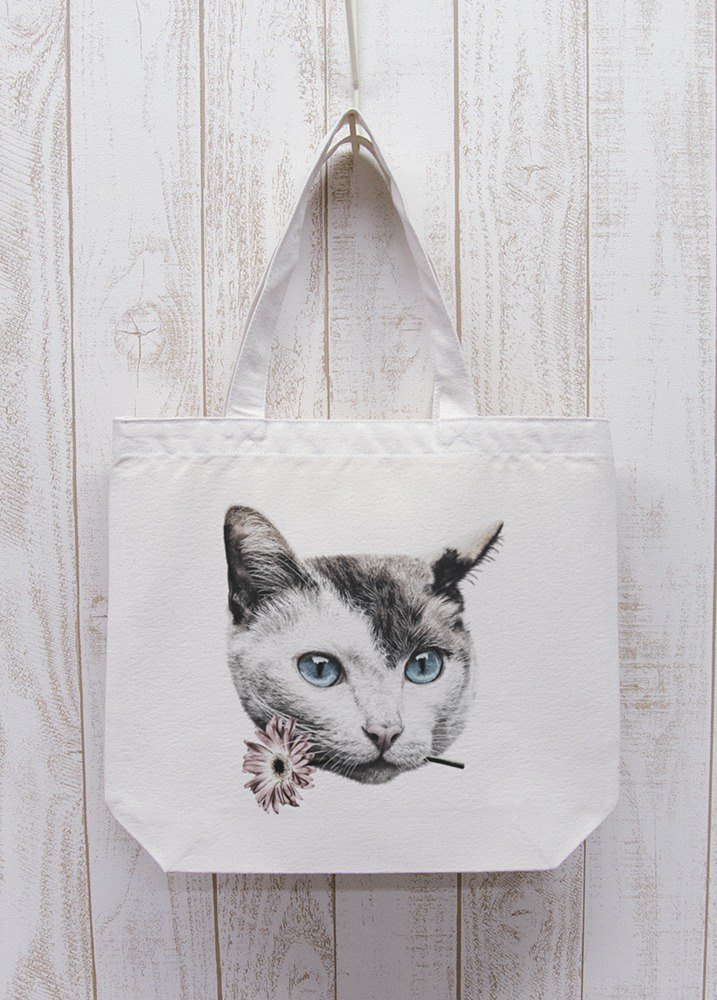 ronronCAT Here you go Odekake Tote Natural / R028-BT-NA