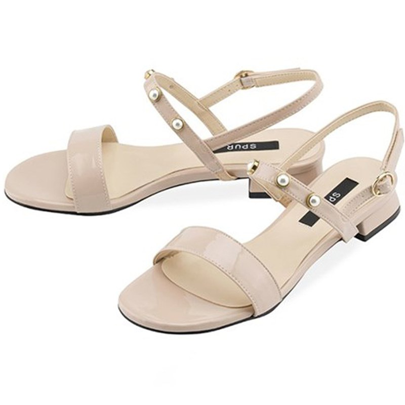 PRE-ORDER – SPUR Pearly strap Sandals OS7084 PINK BEIGE