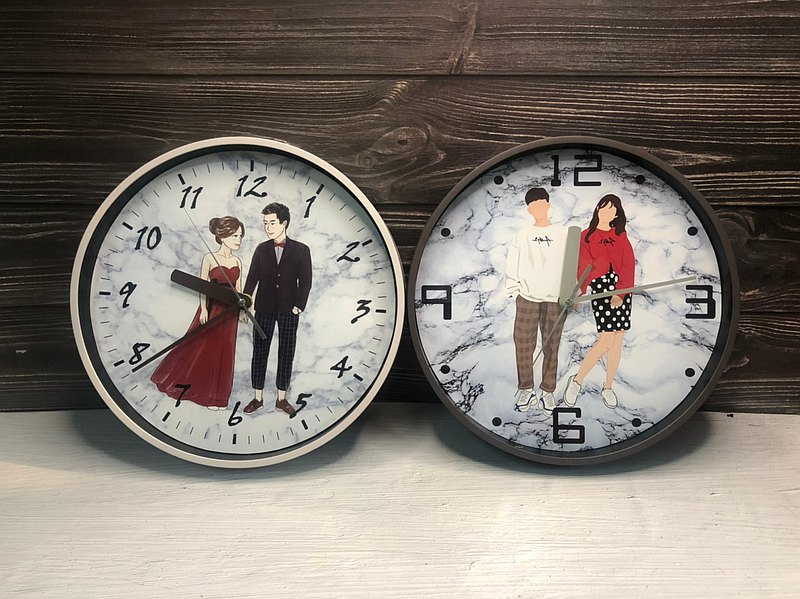 Customized hand-painted clock [fog clock] hand-painted Q version hand-painted portrait custom clock