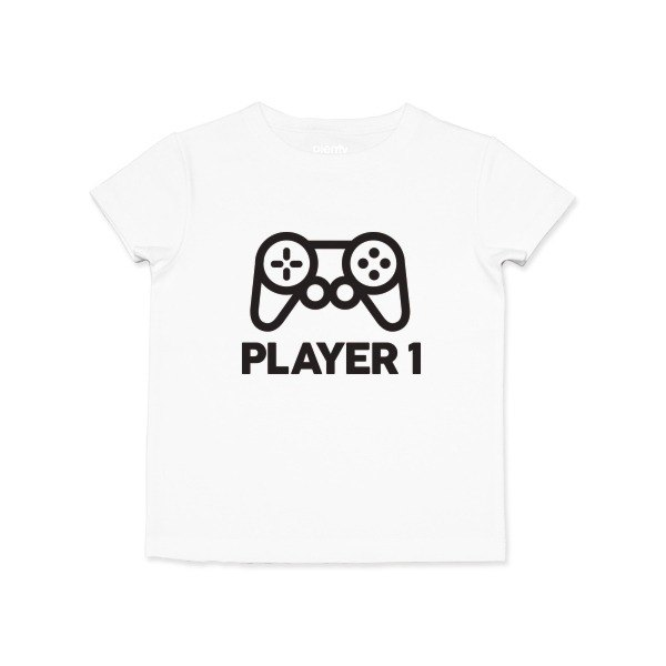 Short-sleeved Tshirt Player1 Black Word