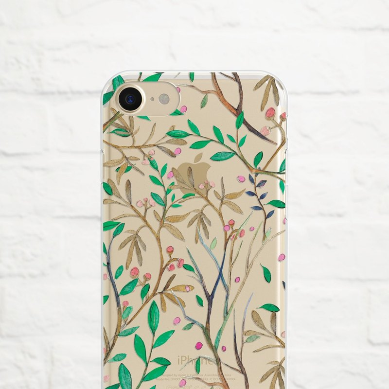 Floral Vines, Clear Soft Phone Case, iPhone X, iphone 8, iPhone 7, iPhone 7 plus, iPhone 6, iPhone SE