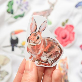 Rabbit Fox Flowers Animals waterproof stickers Buy 3 get 1 laptop sticker decals