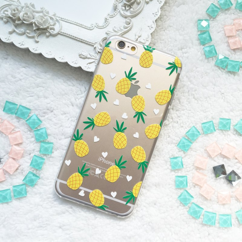 Pineapple Pattern TPU Silicone Phone Case iphone X 8 8+ 7 7+ Galaxy S9 S8 S7 LG
