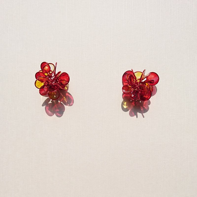 <花> modeling handmade resin earrings/earring/accessories