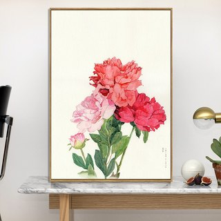 Dissident fresh floral background decorative painting the living room bedroom children's room wall painting murals modern minimalist entrance