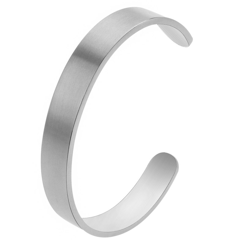 Brush Stainless Steel Bangles for Men
