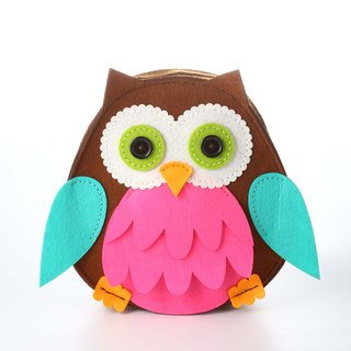 Fairy Land [Material Bag] Owl Backpack - Pink
