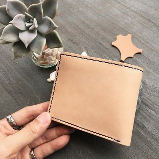 Xuan window leather art - handmade leather - short clip simple dyeing hand-made tanned chrome enamel custom-made Wenchuang Wen Qing