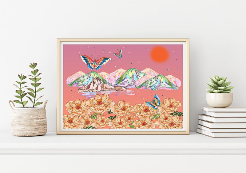 "Art print ""Sweet land"""