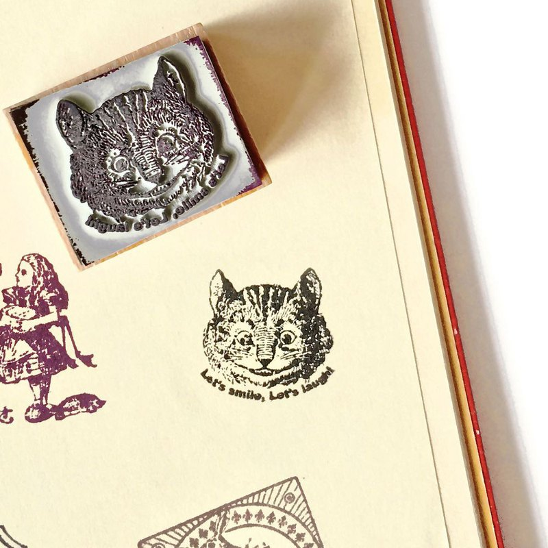 7321 Alice Wood Stamp S-Cheshire Cat - Painted, 73D-ALS001