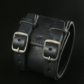 HEYOU Handmade - Leather Cuff leather bracelet (black)