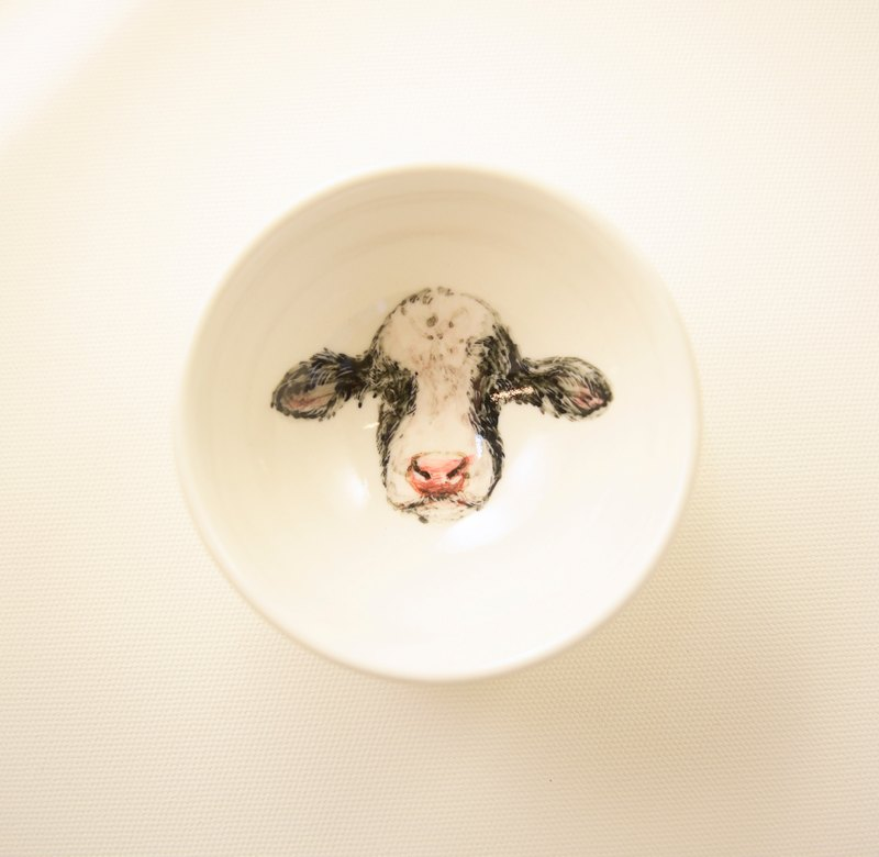 -12 Zodiac painted small cup small cup of cow