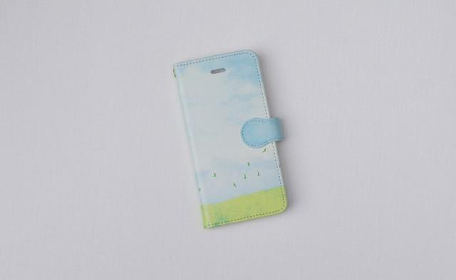 "[Order Production] Pocketbook iPhone Case ""Light blue sky"""