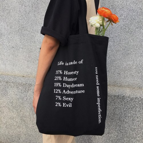 Recycled shopping bag/Black/-Life is made of......