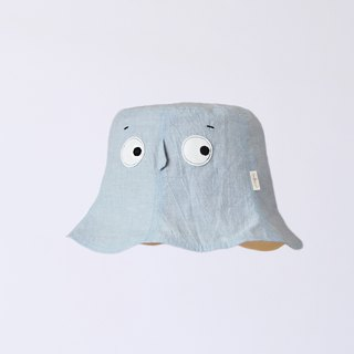[Hooding Cap - Light Denim Blue] Lightweight Washed Cotton Adult Fisherman Hat