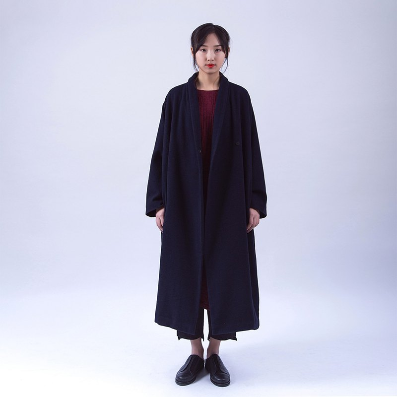 Lucky bag-2 pieces into wool coat and cashmere shawl
