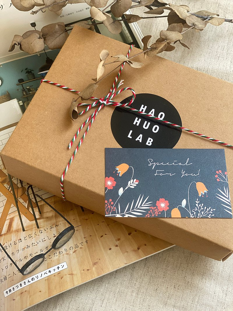 [Limited purchase] Kraft paper box gift packaging comes with a small card that can be waxed and shipped in a carton