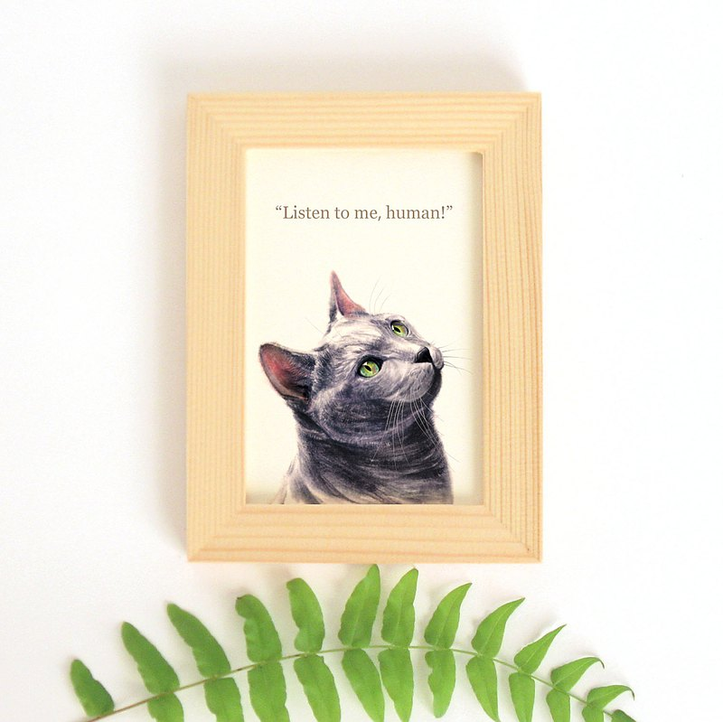 A small mini-decorative painting for cats, cats, cats and cats