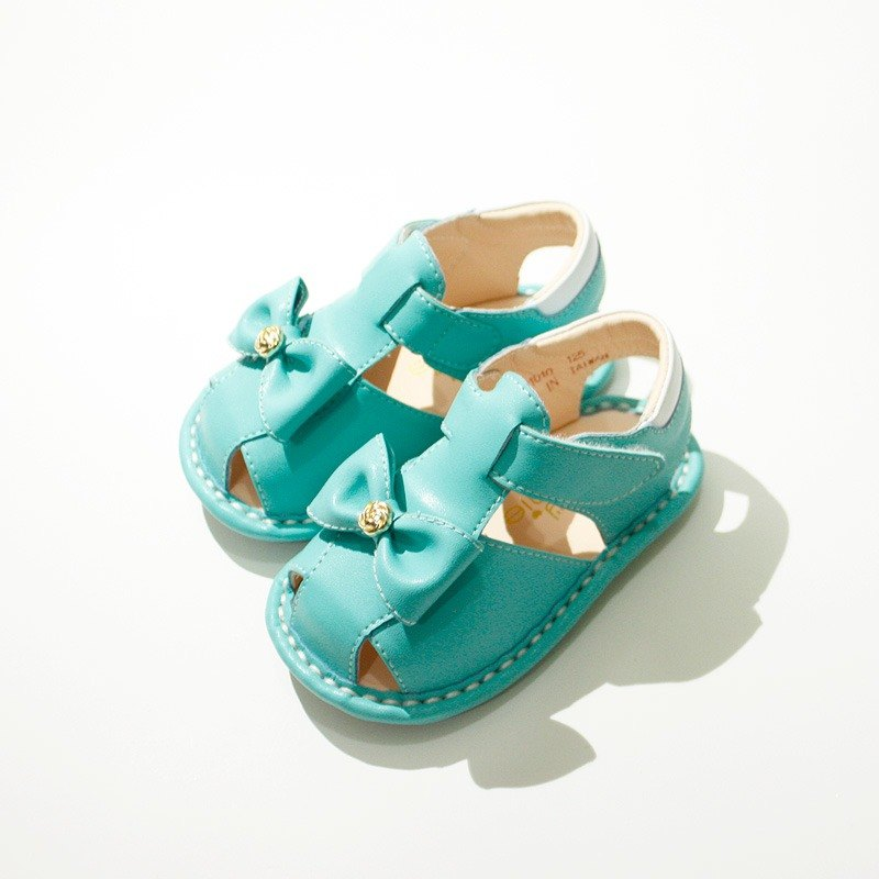 (Zero special) Rose Ribbon bow baby sandals - Tiffany green - Designer  aliybonnie