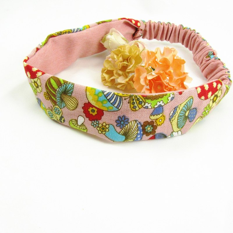 Hand-stitched hair band - love psychedelic
