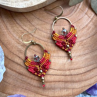 Misssheep-A91 - Bohemian Ethnic Style South American Wavy Line Braided Earrings (Hook / Ear Clip)
