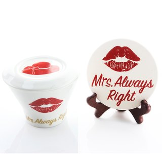 Engels Co. Mrs. Always Right Latte Mug & Coaster
