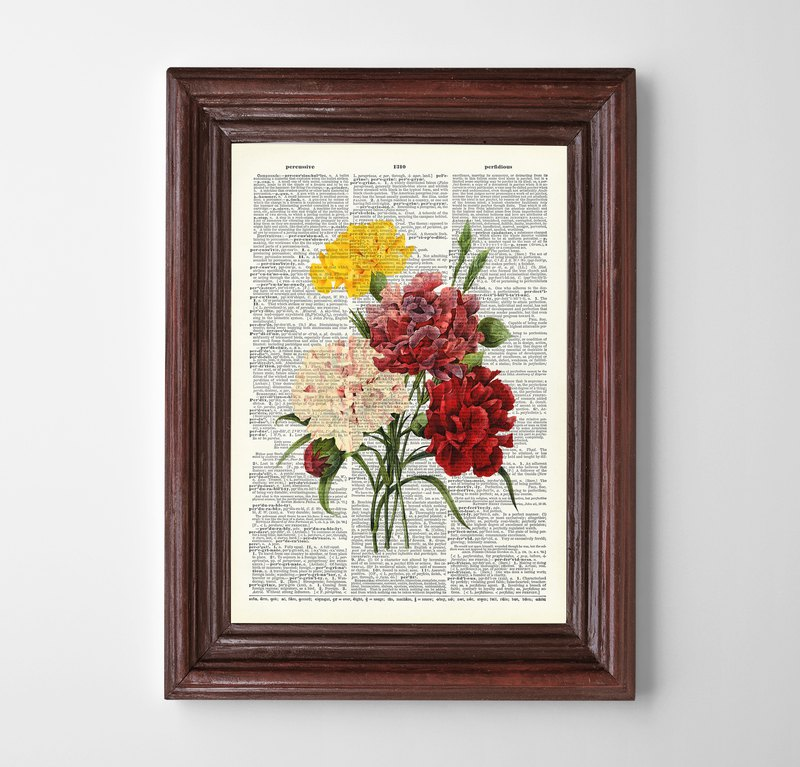 Floral print (3) Customizable painting poster