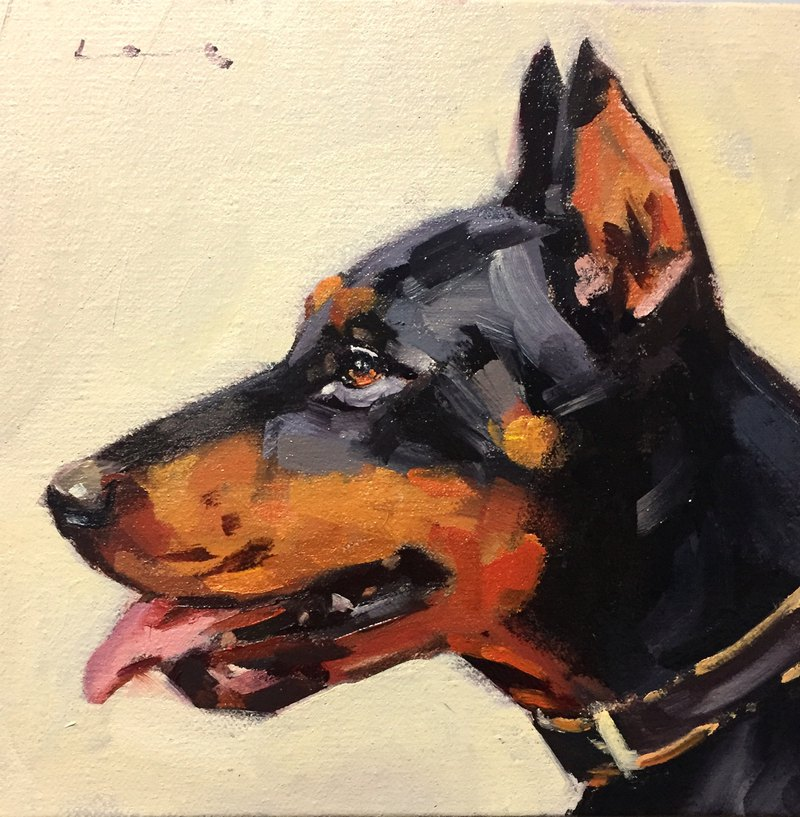 Leo/Pet portrait oil painting