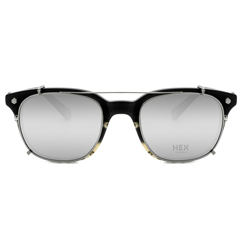 Optical glasses with front hanging sunglasses | sunglasses | black double 玳瑁 | Italy | plastic frame glasses