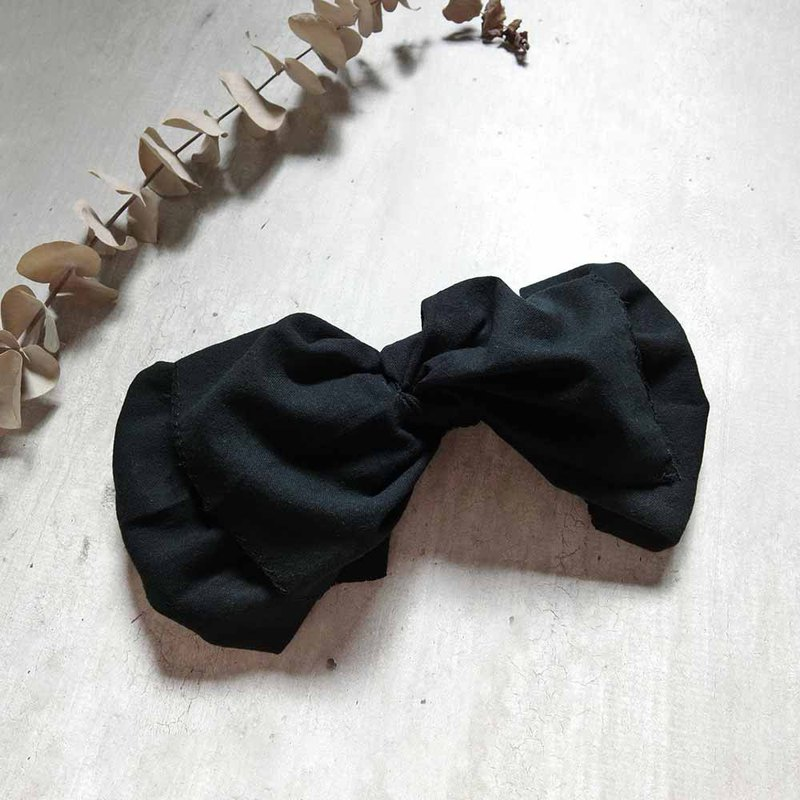 Inky Black Butterfly Hairband