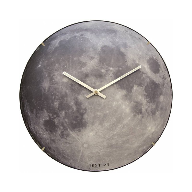 Luminous Moon Clock (Dark Blue)