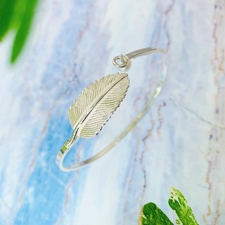 925 sterling silver temperament romantic [elegant feather adjustment bracelet]
