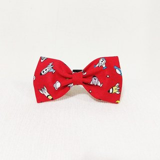 Ella Wang Design Bowtie Bow Tie Bow Cat and Dog Rocket Spaceman Alien Red