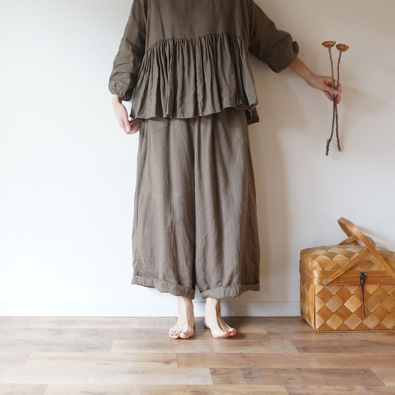 予約商品 French linen Wide pants