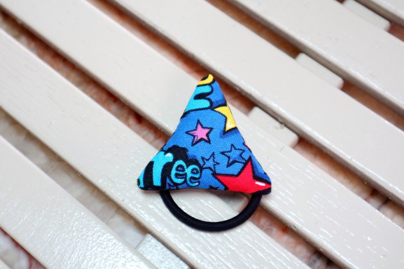 Q cotton triangle hair ring hair tress