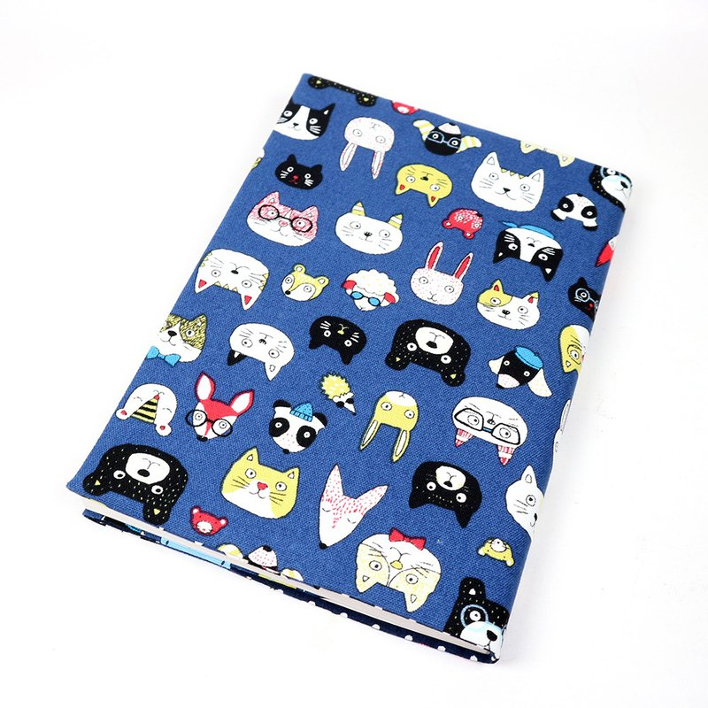 A5 Mom's Handbook Cloth Book Cloth Book - Animal Park (Blue)