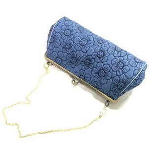 177BL 花 肩袋 防水袋 手袋 Flower Shoulder Bag  Pochette Handbag